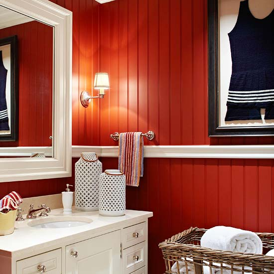 Look at these red walls red ostelinda for Redoing bathroom walls
